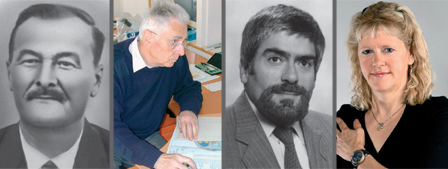 v.l.n.r.: James Aubert, Jean Fillon, Peter Hofer en Ursula Forster