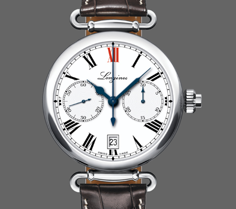 Longines stalen Column-Wheel Single Push-Piece Chronograph